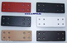 10 Natur Leder Bastelteile mit 8 Löcher von LWPH 9,0 x 3,0 cm Basteln Schule wow