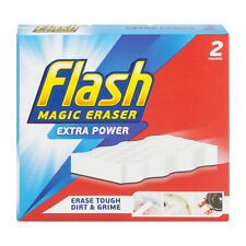 2 Pack Flash Magic Eraser Extra Power Cleaning Sponge Erase Tough Dirt & Grime