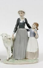 LLADRO Mother with Child & Lamb #5299 Retired 1988 Mom Figurine RV $490 MINT