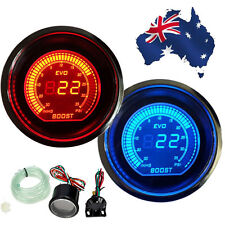 "New 2"" 52MM Digital Boost Meter Vacuum Gauge Electric EVO Series RED / BLUE AU"