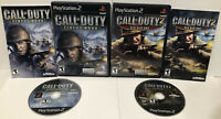 Call of Duty: (Sony PlayStation PS2) Finest Hour & Big Red One ! Lot of 2 ! CIB