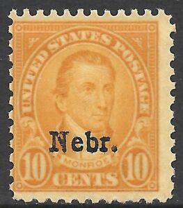 "U.S. SCOTT 679 MNH FINE - 1929 10c ORG YELLOW ""NEBRASKA OVPT"" ISSUE CAT $180.00"