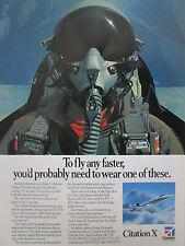 7/1992 PUB CESSNA AIRCRAFT TEXTRON AVION CITATION X PILOT HELMET CASQUE AD