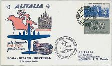 ITALIA storia postale - PRIMI VOLI - catalogo PELLEGRINI 341 CC : MONTREAL 1960