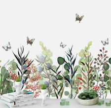 Spring Grass Butterflies Kids Wall Stickers Home Decor Art Mural Removable Decal