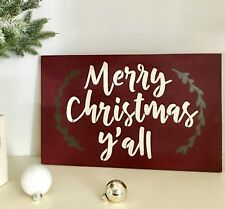 Merry Christmas Y'all, Merry Christmas Sign, Small Christmas Sign, Merry Xmas