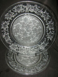 4 Princess House Crystal Fantasia Dinner Plate Very Good Condition