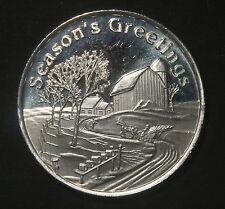 2008 SEASON'S GREETINGS  1 OZ .999 PURE SILVER ROUND  LOT 110311S