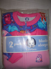 baby sleeper blanket NEW infant  SIZE 24 M CATS footed fleece 2 pack  T26