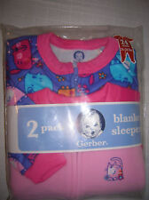 infant baby blanket sleeper SIZE 24 M CATS footed fleece 2 pack