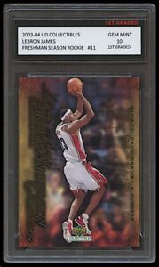LEBRON JAMES 2003-04 UPPER DECK #11 1ST GRADED 10 ROOKIE CARD LAKERS/CAVALIERS