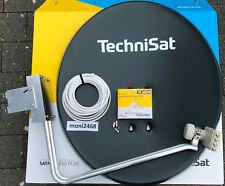 TechniSat Satanlage 650plus grau mit   TechniSat Quad-LNB (4Teilnehmer)Neu 10m