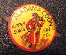 Vintage Tobacco Tag - BLACK Americana MEMORABILIA COLORFUL