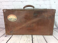 More details for vintage ww2 raf leather suitcase squadron leader, free uk delivery