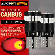 2x Super Red CANBUS T10 168 194 192 921 24SMD LED Dome Map Side Wedge Light Bulb