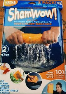 SHAMWOW 2 Pack As Seen On TV-NEW-Holds 10X Weight...FREE SHIPPING IN THE USA!