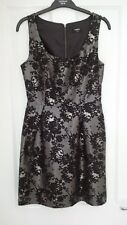 Lovely Oasis silver and black floral lace dress.  Size 8