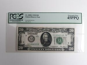 $20 1928 Fed Res Note PCGS 45 PPQ