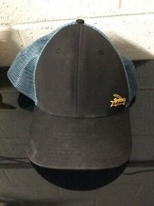 Patagonia Small Gold Flying Fish Trucker Mesh Snapback Hat USED *SEE PICS*