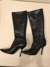cd785e1c73749 Jimmy Choo Knee High Stiletto Black Boots Size 38-1/2