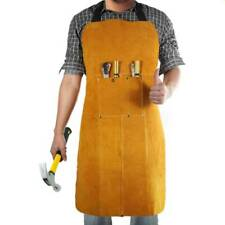 Welding Work Apron Protective Gear Leather Universal Fit Multiple Tool Pockets
