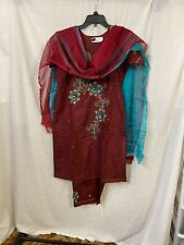 Bangladeshi/Indian Party-wear Silk Chumki & Embroidery Kameez,salwar & Dupatta.