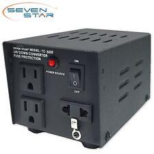 SevenStar TC-500 Watt Step Up/Down Voltage Converter Transformer 120V-220V Volt