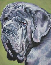 Neapolitan Mastiff dog portrait Canvas Print of lashepard painting Lshep 8x10""