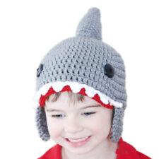 Shark shape children winter autumn warm Knitted hat chapeau Kids Wool Funny \