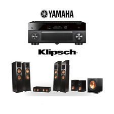 Klipsch RP-8060FA 7.1.4 Dolby Atmos Home Theater System with Yamaha RX-A2080