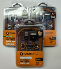 3 X Tough Tested 6ft USB Cable for Ipod/IPad/IPhone Older models - 30 pin