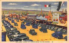 Linen Postcard Main Street in Tijuana, Baja California, Mexico~113369