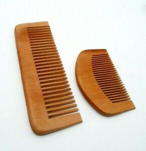Wooden Beard Comb Coarse Hair Comb Beard Grooming Large & Small