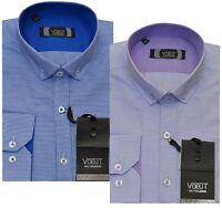 Designer Voeut Stylish Formal Slim Fit Dress Shirt Long Sleeved M - XXL
