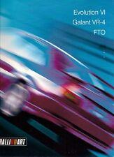 Mitsubishi Ralliart 1999-2000 UK Market Brochure Lancer Evo VI FTO Galant VR4