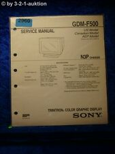 Sony Service Manual GDM F500 Trinitron Graphic Display (#2960)