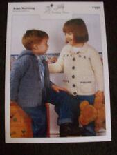 CHILDRENS JACKETS ARAN KNITTING PATTERN (7180)