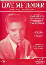 """ELVIS PRESLEY """"LOVE ME TENDER SONG FOLIO"""" PICTURES,1956"""