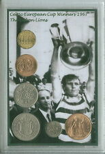 Glasgow Celtic BILLY McNeill BHOYS europeo finale di Coppa vincitori MEDAGLIA Set Regalo 1967