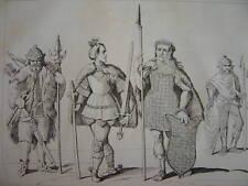 Gravure Costumes BARBARES Goth Sueve Marcoman Vandale