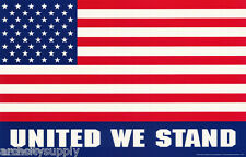 LOT OF 2 POSTERS: PATRIOTIC: UNITED WE STAND - FLAG - FREE SHIP  #3094    LP34 L