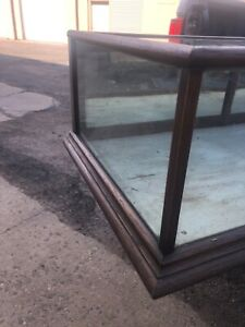 """WOW vintage Oak table top country store display cabinet 72/24/13.5"""" inside 12"""" h"""