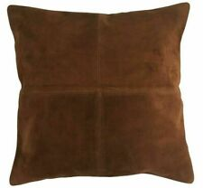 Handmade 100% Leather Pillow Case Suede Cushion Cover Sofa Decor All Size Zipper