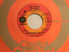 Marjorie McCoy dj 45 THRILL IS GONE / MORNING AFTER ~ Capitol VG++ funk