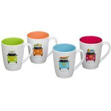 Camper Smiles VW 4 Pack Mug Set.100% Melamine. Camping, Caravanning ,Tableware