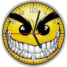 #015 Wanduhr  -> böser Smiley <- Smily Smilie ANSEHEN!