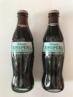 Coke Commerative Bottle - 1998 Disney's Animal Kingdom Opening Day - Two Bottles