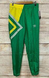 Umbro Jogger Athletic Pants Mens Size Medium Green Swishy 100% Nylon Pants New