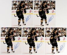 ADAM MCQUAID SIGNED BOSTON BRUINS 8x10 PHOTO w/ DIAMOND LEGENDS COA