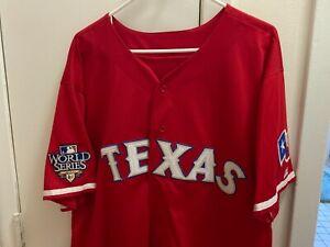 Josh Hamilton Texas Rangers Jersey With World Series Patch
